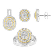 LYRIDÉA Bague + Boucles d'oreilles Tourbillon de Diamants