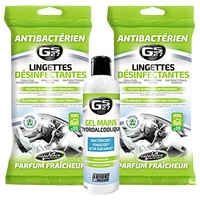 GS27 - 2 Lots lingettes Désinfectantes Virucides & Gel