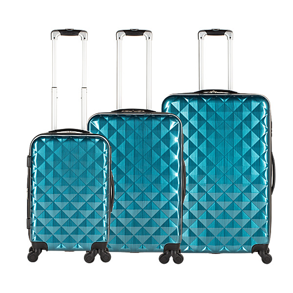 VALISES DIAMANT BLEUES - Lot de 3