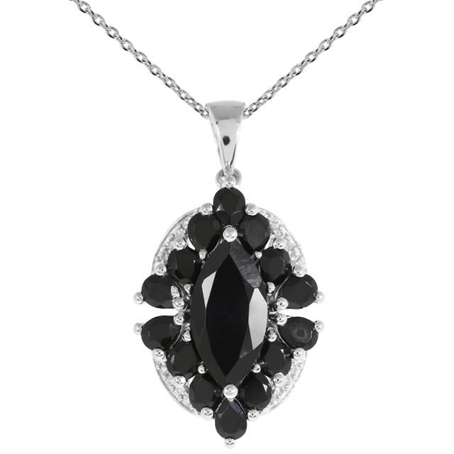 TRIANGLE D'OR Collier Spinelles Noirs 5.15 carats